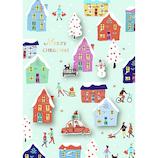【クリスマス】アートプリントジャパン ルイーズハンドメイドグリーティングカード タウン