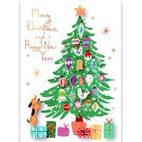 【クリスマス】アートプリントジャパン ルイーズハンドメイドグリーティングカード ツリー