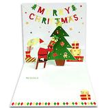 【クリスマス】アートプリントジャパン ポップアップミニカード ガーランド