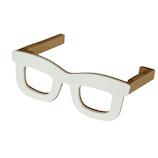 八幡化成 バッグハンガーグラス(Bag Hanger Glasses) ホワイト&ベージュ│旅行便利グッズ