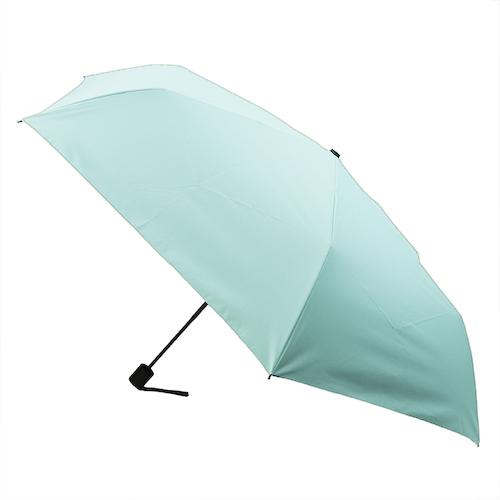 hands+ 全天候型簡単開閉折傘2 55cm ミントグリーン│レインウェア・雨具 折り畳み傘