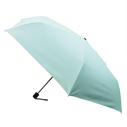 hands+ 全天候型簡単開閉折傘2 60cm ミントグリーン│レインウェア・雨具 折り畳み傘