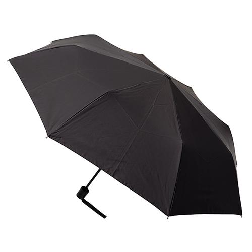 hands+ 全天候型簡単開閉折りたたみ傘 55cm ブラック