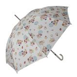 チャムチャムマーケット(CHAM CHAM MARKET) 長傘 フルーツ ベージュ│レインウェア・雨具 傘