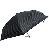 Kiten.lab 晴雨兼用傘 自動開閉 遮光 メンズ ボーダー 1KK-183030398 ブラック