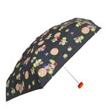CHAM CHAM MARKET ミニ雨傘 フルーツ ブラック│レインウェア・雨具 折り畳み傘