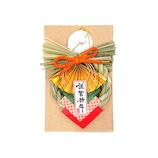 【年賀用品】 越後稲わら飾り  ミニ金扇
