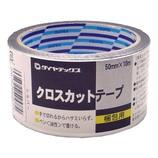 ダイヤテックス クロスカットテープ銀 50mm×10M│ガムテープ・粘着テープ 装飾テープ・シート