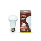 アイリスオーヤマ LED電球 人感センサー付 電球色 40形相当 LDR6L-H-SE25