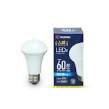 アイリスオーヤマ LED電球 人感センサー付 昼白色 60形相当 LDR9N-H-SE25│LED電球・LED蛍光灯