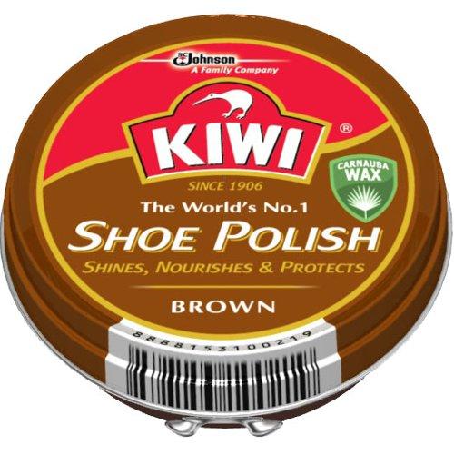 KIWI 油性靴クリーム中缶 茶 45ml