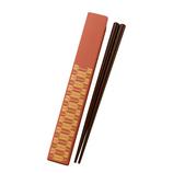 日本伝統色 和文様 箸&箸箱セット 柿色 矢絣