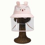 コジット 飛沫対策ガード帽子(こども用) ピンク│アウトドアウェア