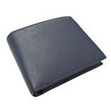 プレリートラディショナルファクトリー イタリーレザー 二つ折り財布 ネイビー