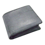 プレリートラディショナルファクトリー イタリーブライドル 二つ折り財布 ブラック