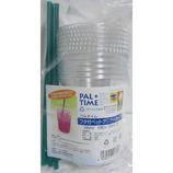 フタ付クリヤカップ(ストロー付) 360mL│使い捨て容器・食器 使い捨て食器