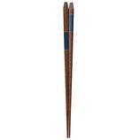 イシダ 箸 五角漆市松 23cm
