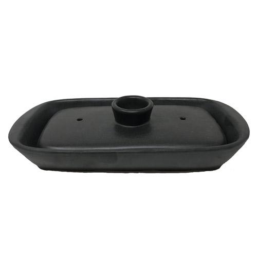 イシガキ産業 グリル名人 陶器小判型プレート 蓋付 3768