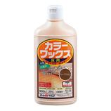 アトムサポート カラーワックス 500mL ディープブラウン│掃除用洗剤 フローリングワックス
