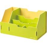 キングジム(KING JIM) カラーユニッツ デスクオーガナイザー 7511 黄緑│収納・クローゼット用品 その他 収納ケース・ボックス