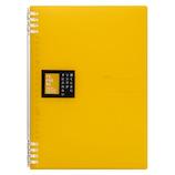 キングジム リングノ-ト テフレ-ヌ B5 9855TTE 黄色│ノート・メモ リングノート