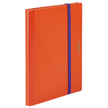 キングジム 二つ折りクリアーファイル コンパック 5894S オレンジ×パープル