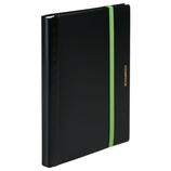 キングジム 二つ折りクリアーファイル コンパック 5894H ブラック×イエローグリーン│ファイル レール式・挟み込みファイル