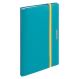 キングジム 二つ折りクリア-ファイル コンパック A4 5894M 水色│ファイル レール式・挟み込みファイル