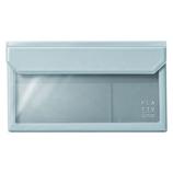 キングジム フラッティ バッグインバッグ 封筒サイズ 5362 ブルーグレー│インナーバッグ