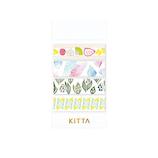 キングジム KITTA(キッタ) コラボ KITX001 ハナウタ│シール マスキングテープ