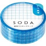 キングジム ソ−ダ(SODA) 透明マスキングテープ CMT15−001 ホウガン│シール マスキングテープ