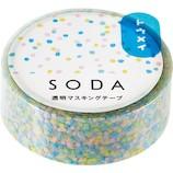 キングジム ソ−ダ(SODA) 透明マスキングテープ CMT15−005 アラレ│シール マスキングテープ
