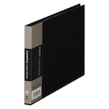 キングジム クリアーファイル カラーベース B6 ヨコ型 110C 黒