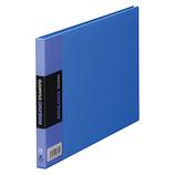 キングジム クリアーファイル カラーベース A5 ヨコ型 115EC 青