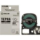 キングジム プロテープカートリッジ 12mm 透明/白文字 ST12S
