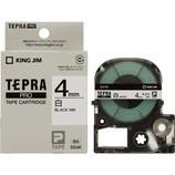 キングジム プロテープカートリッジ 4mm 白/黒字 SS-4K