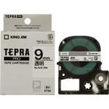 キングジム プロテープカートリッジ 9mm 透明/黒字 ST9K