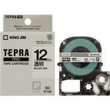 キングジム プロテープカートリッジ 12mm 透明/黒字 ST12K