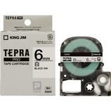キングジム プロテープカートリッジ 6mm 白/黒字 SS6K