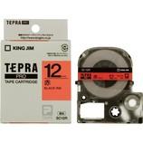 キングジム プロテープカートリッジ 12mm 赤/黒字 SC12R│オフィス用品 ラベルプリンター・ライター