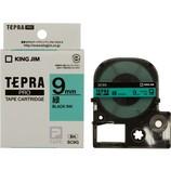 キングジム プロテープカートリッジ 9mm 緑/黒字 SC9G