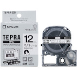 キングジム テプラPROテ−プカートリッジ マグネットテープ 12mm SJ12S 白│オフィス用品 ラベルライターテープ
