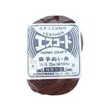 中西 エスコード 麻手ぬい糸 太 16/5 25m 茶