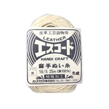 中西 エスコード 麻手ぬい糸 太 16/5 25m 生成