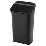 リス スムースプッシュダストボックス 20 ブラック│ゴミ箱 キッチン用ゴミ箱