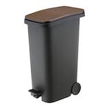 リス スムース ペダルダストボックス 31L ウッド│ゴミ箱 キッチン用ゴミ箱