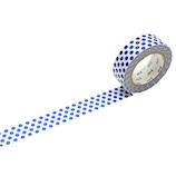 カモ井 マスキングテープ mt 1P ドット MT01D361 ナイトブルー│シール マスキングテープ