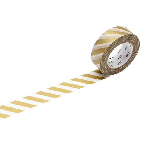 カモ井 マスキングテープ mt 1P ストライプ MT01D377 金