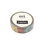 カモ井 mt×カピッツァ(Kapitza) 15mm MTKAPI04 マルチストライプ│シール マスキングテープ