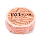 カモ井 マスキングテープ mt 1P ボーダー&サークル MT01D436 オレンジ